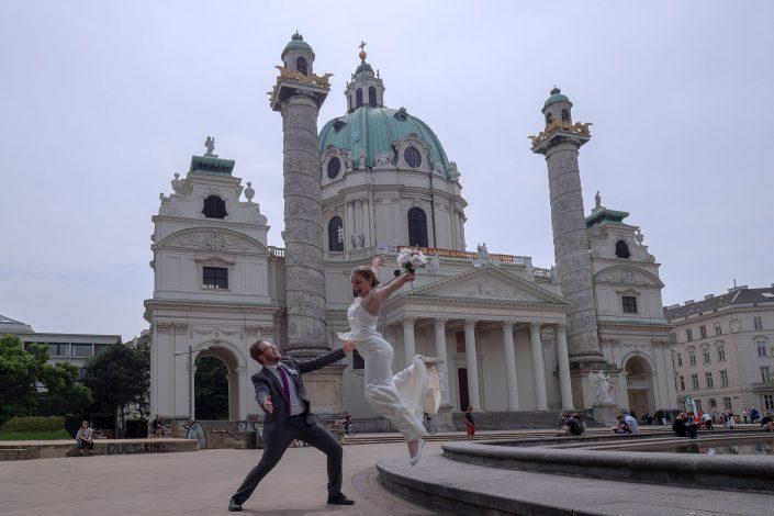 Hochzeitsfotografie Karlskirche Wien