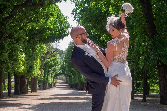 Fotografie - Hochzeit Schloß Schönbrunn Brautpaar