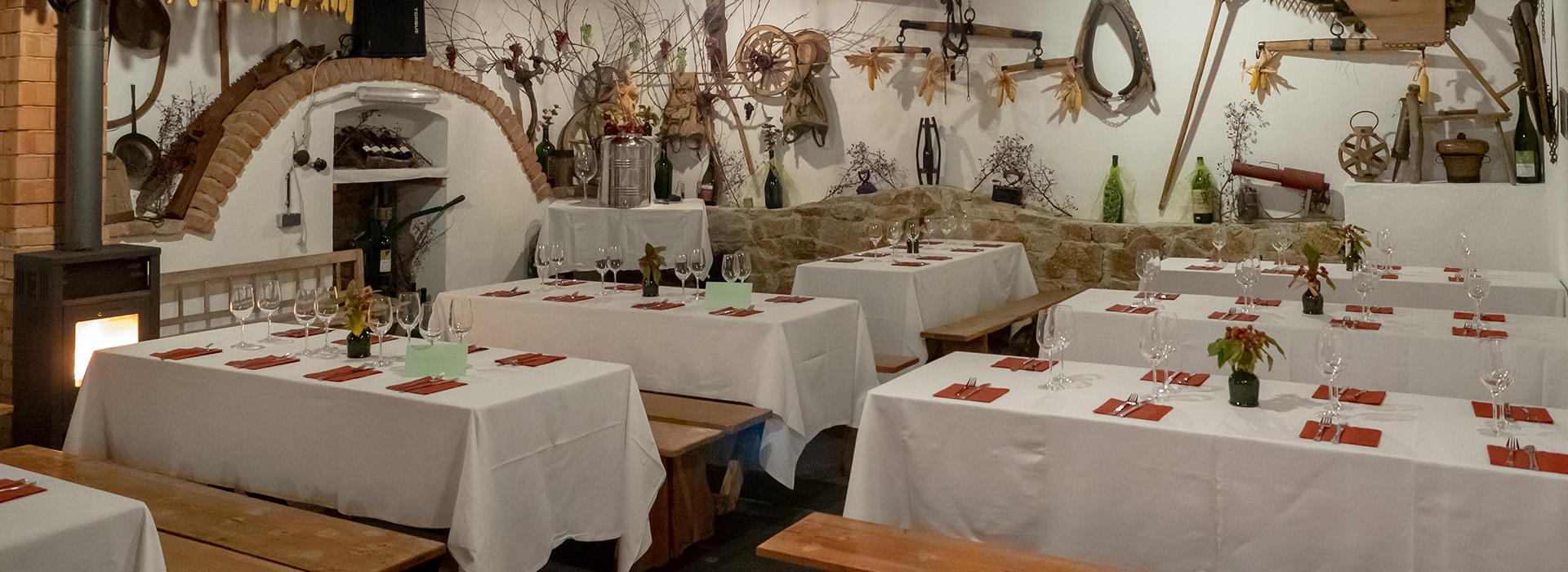 Tischdekoration Weintaufe