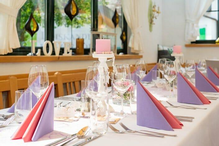 Hochzeit Tischdekoration Heuriger Loiskandl Guntersdorf