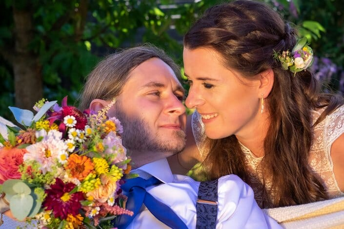 Gartenhochzeit Brautpaar