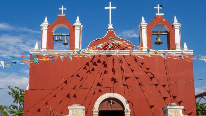 Celestun Kirche Yucatan