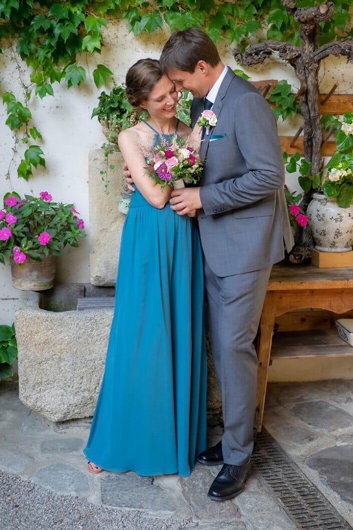 Hochzeitsfotografie Brautpaar Nikolaihof Mautern