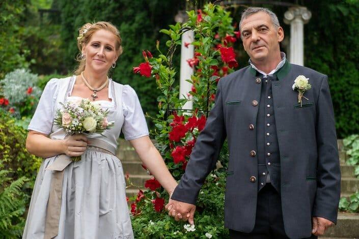 Hochzeit Brautpaar Kittenberger Erlebnisgärten Schiltern