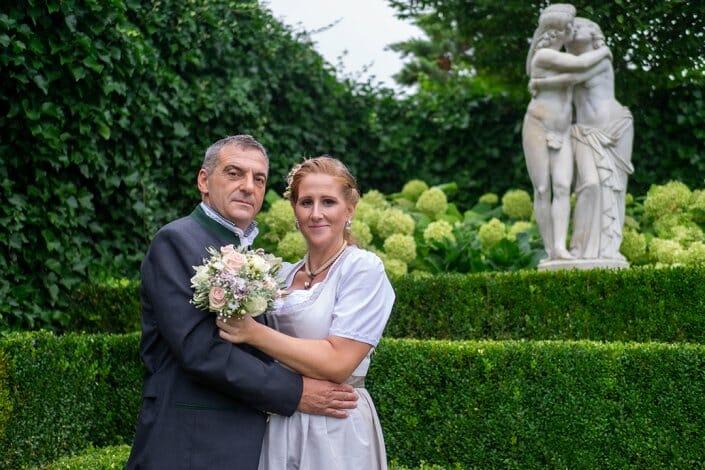 Hochzeit Kittenberger Erlebnisgärten Schiltern Brautpaar