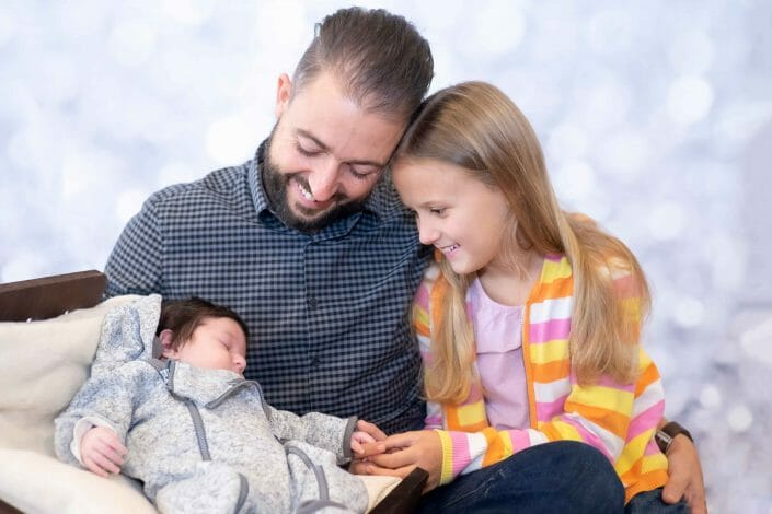 Familienfoto mit Baby