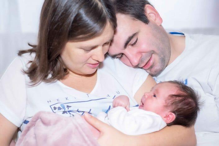 Babyfoto und Familie