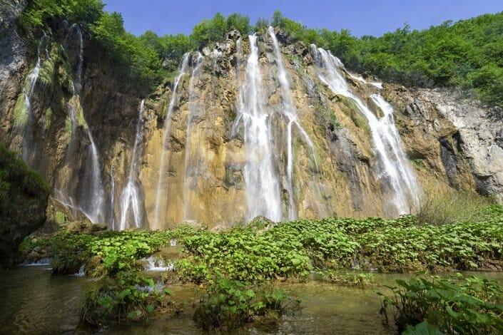 Foto Plitvice Kroatien Großer Wasserfall