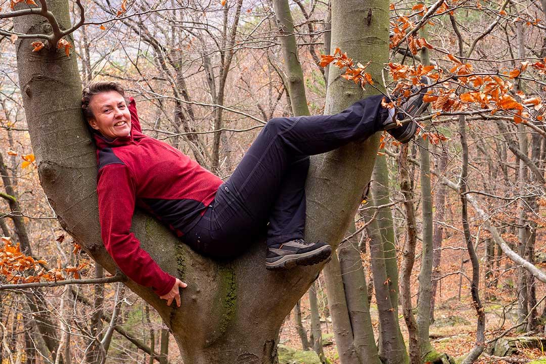 Photo Irene Mühlbauer enjoying nature in autumn in Austria