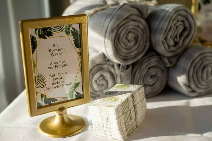 Hochzeitsfotografie Tischdekoration Linz
