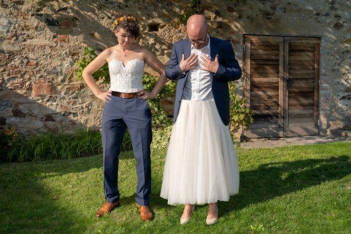 Brautpaar Unterkörper vertauscht