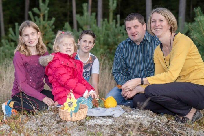 family photo in autumn in Austria